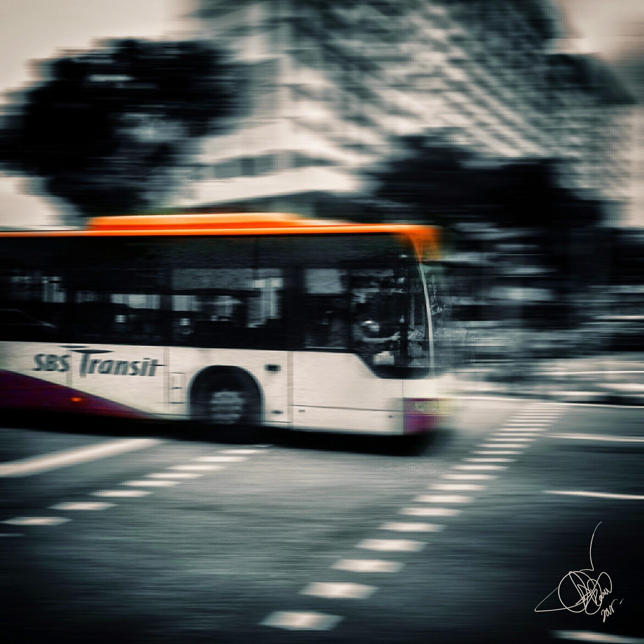 A bus approaching