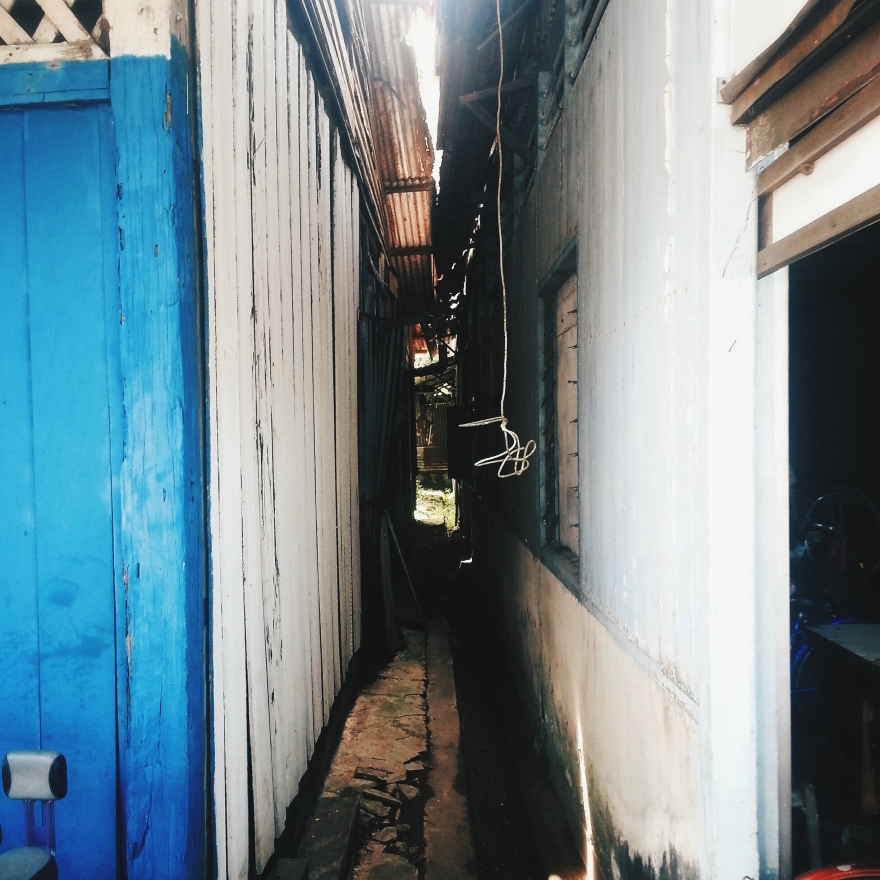 Alleyways In Between The Shops