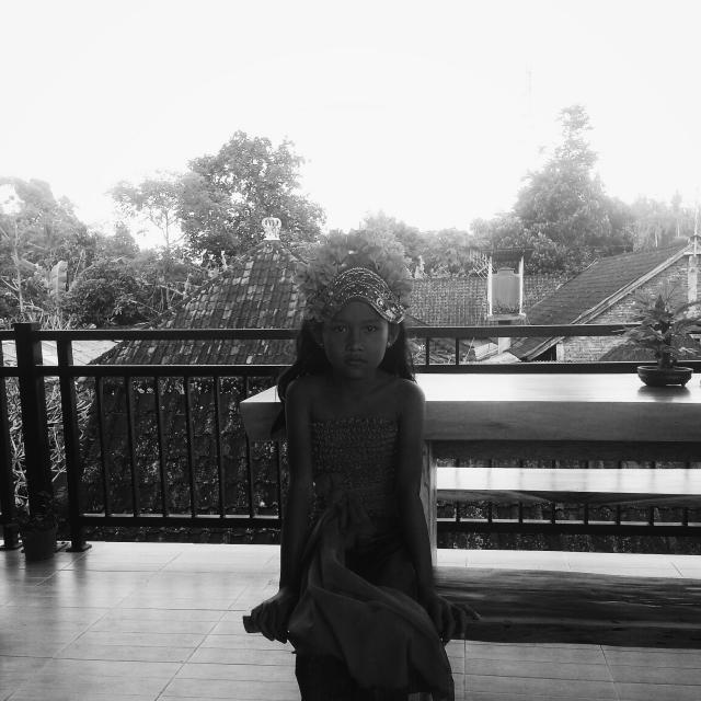 Oone of the Balinese dancers