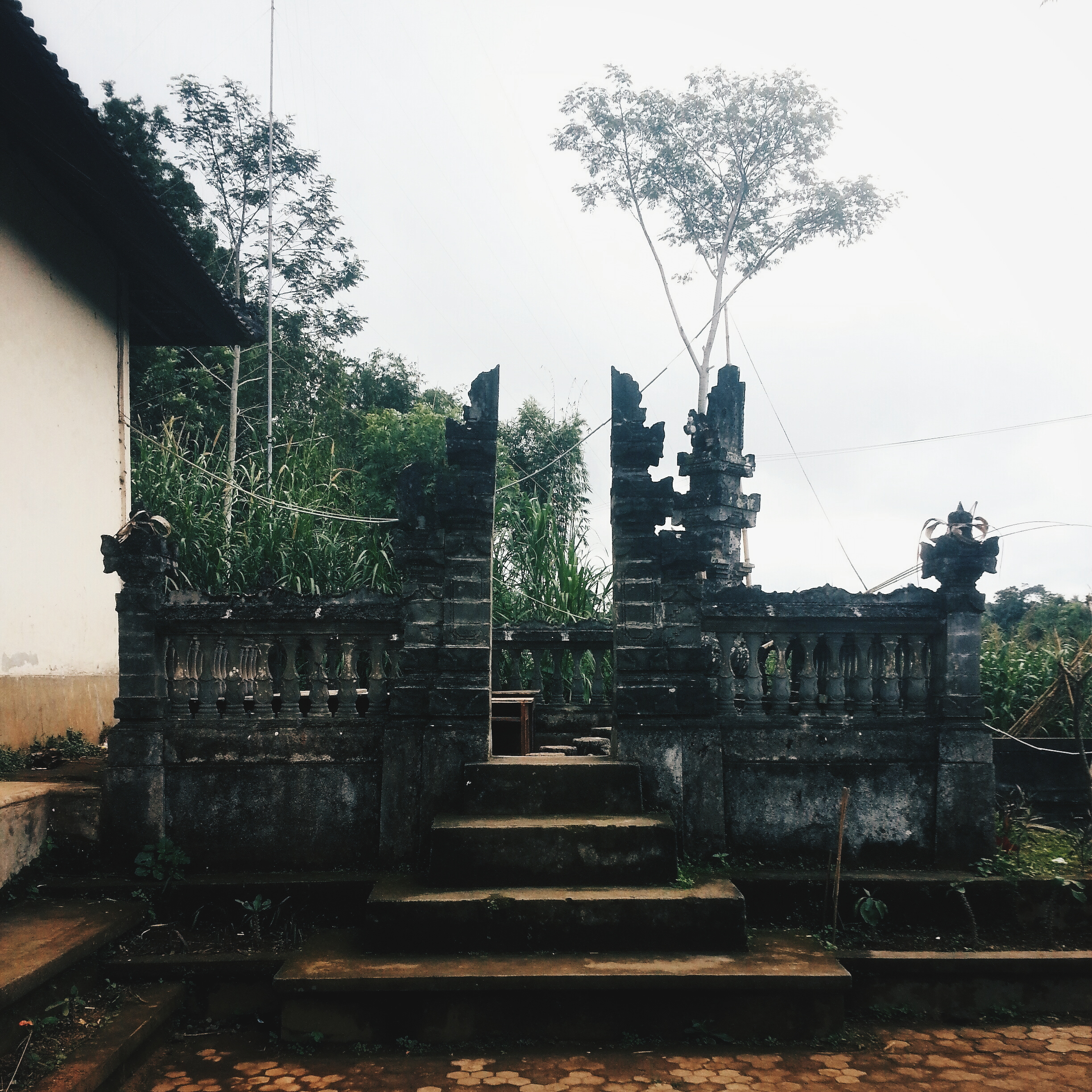 A Hindu shrine in the school compound