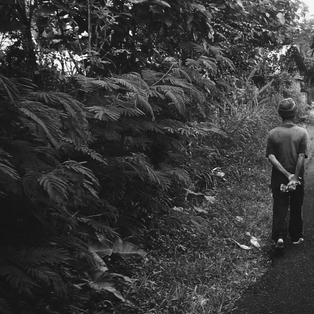 A villager taking a walk