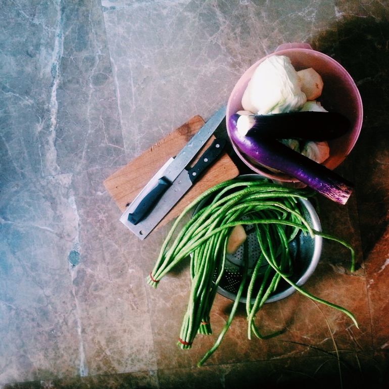 Some vegetables for the dishes
