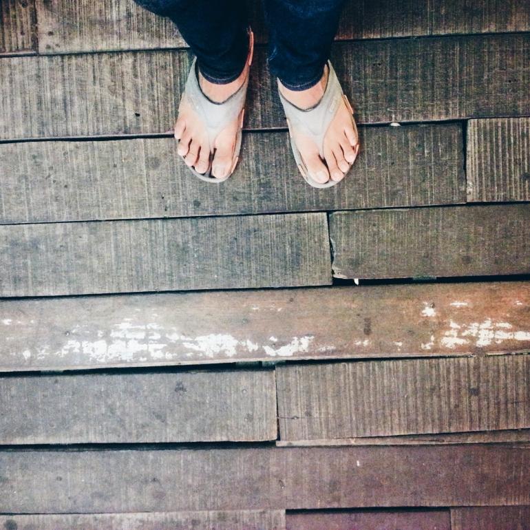 Creaky floorboards.