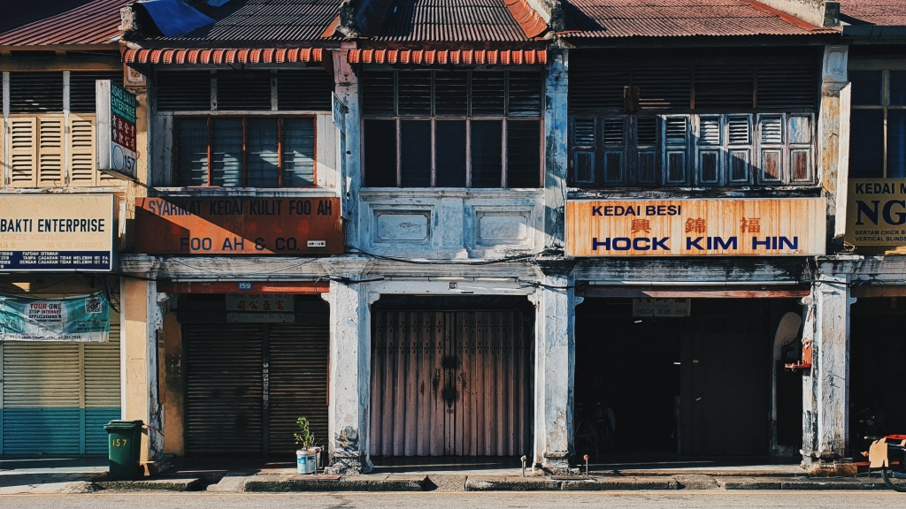 Shophouses in Georgetown, Penang, Malaysia